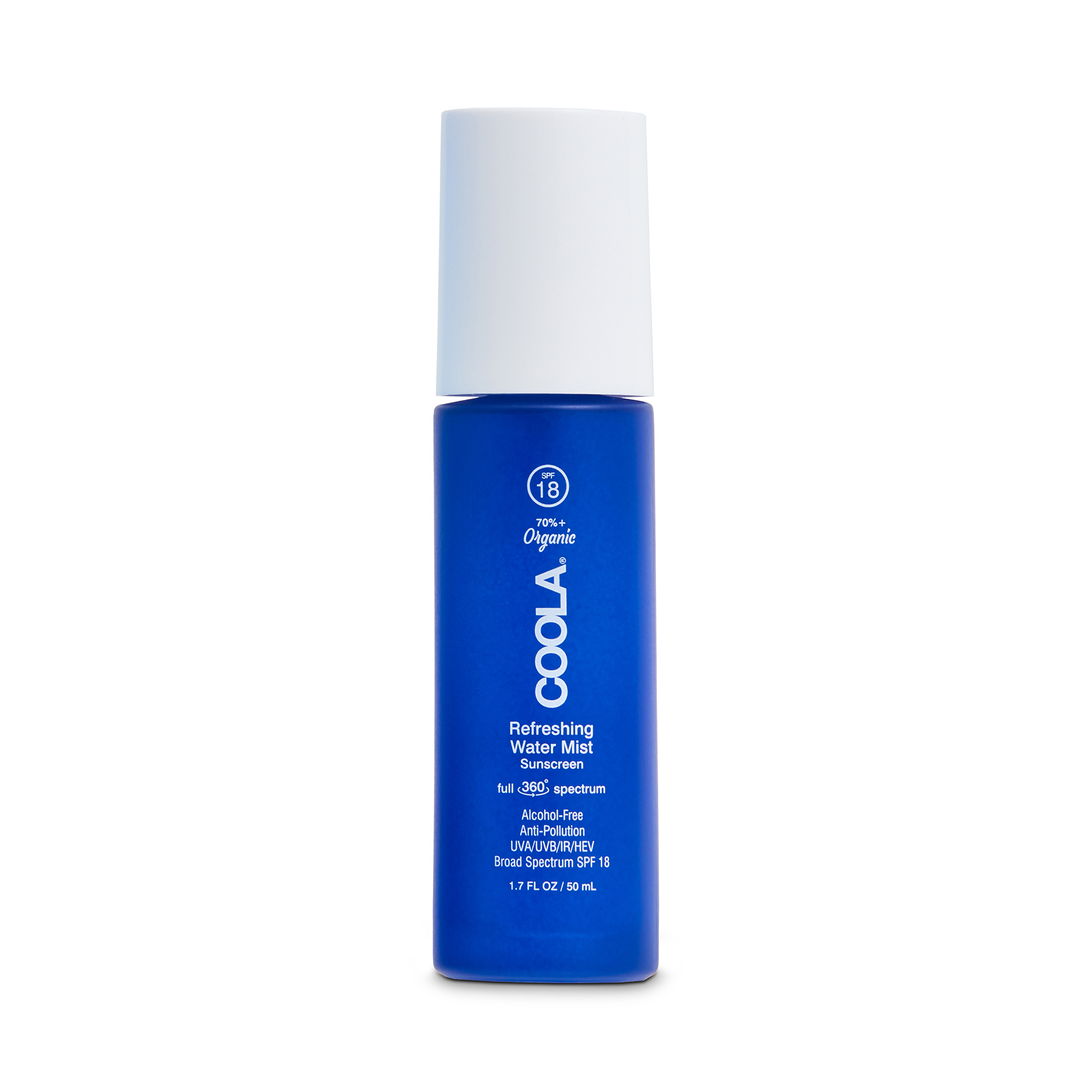 Full Spectrum 360° Refreshing Water Mist Organic Face Sunscreen SPF18, , large