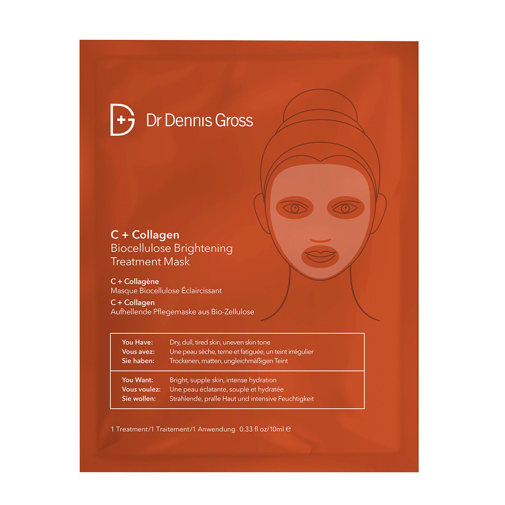 Dr. Dennis Gross C+Collagen Biocellulose Brightening Treatment Mask