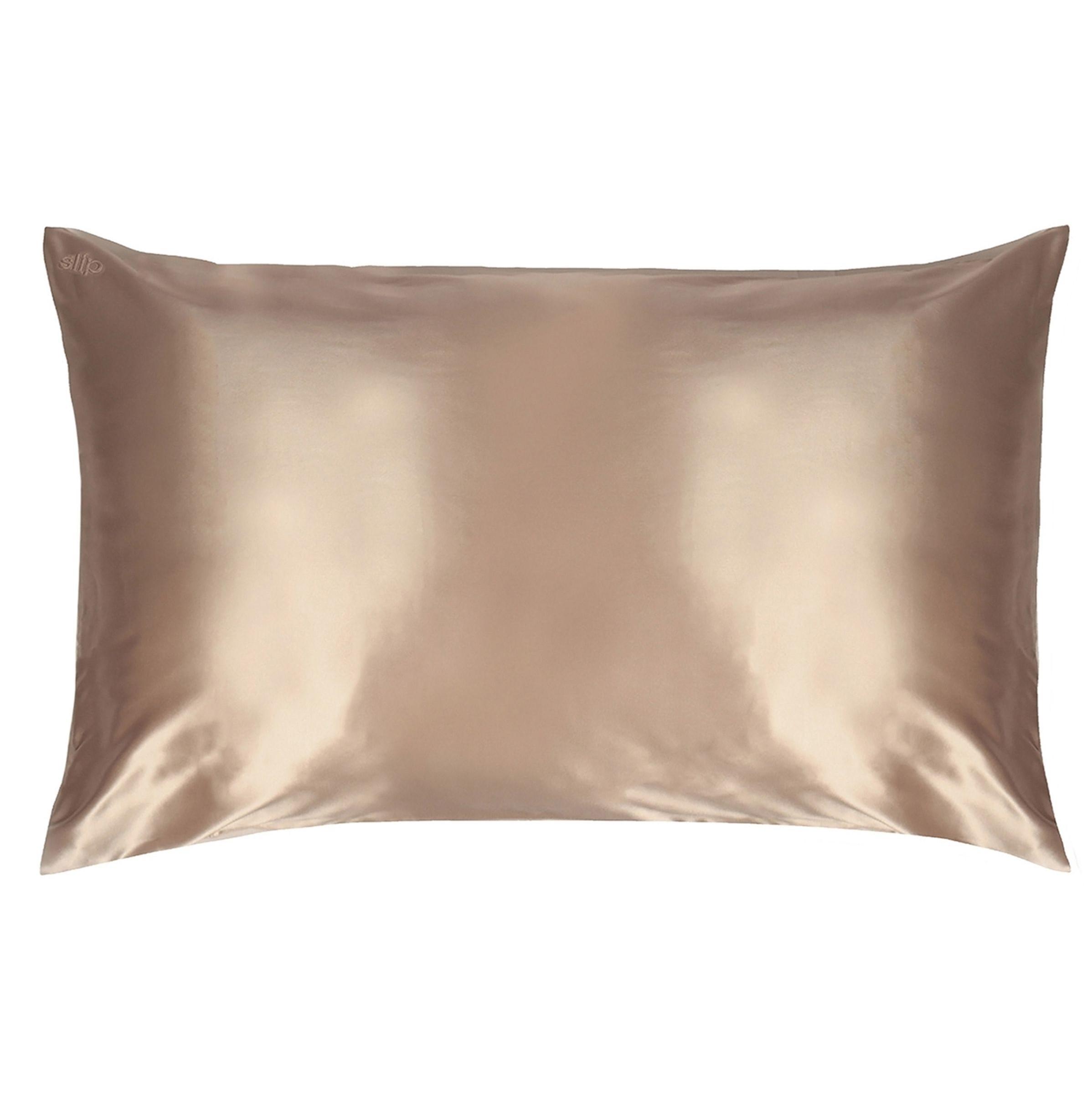 Silk Pillowcase - King, CARAMEL, large
