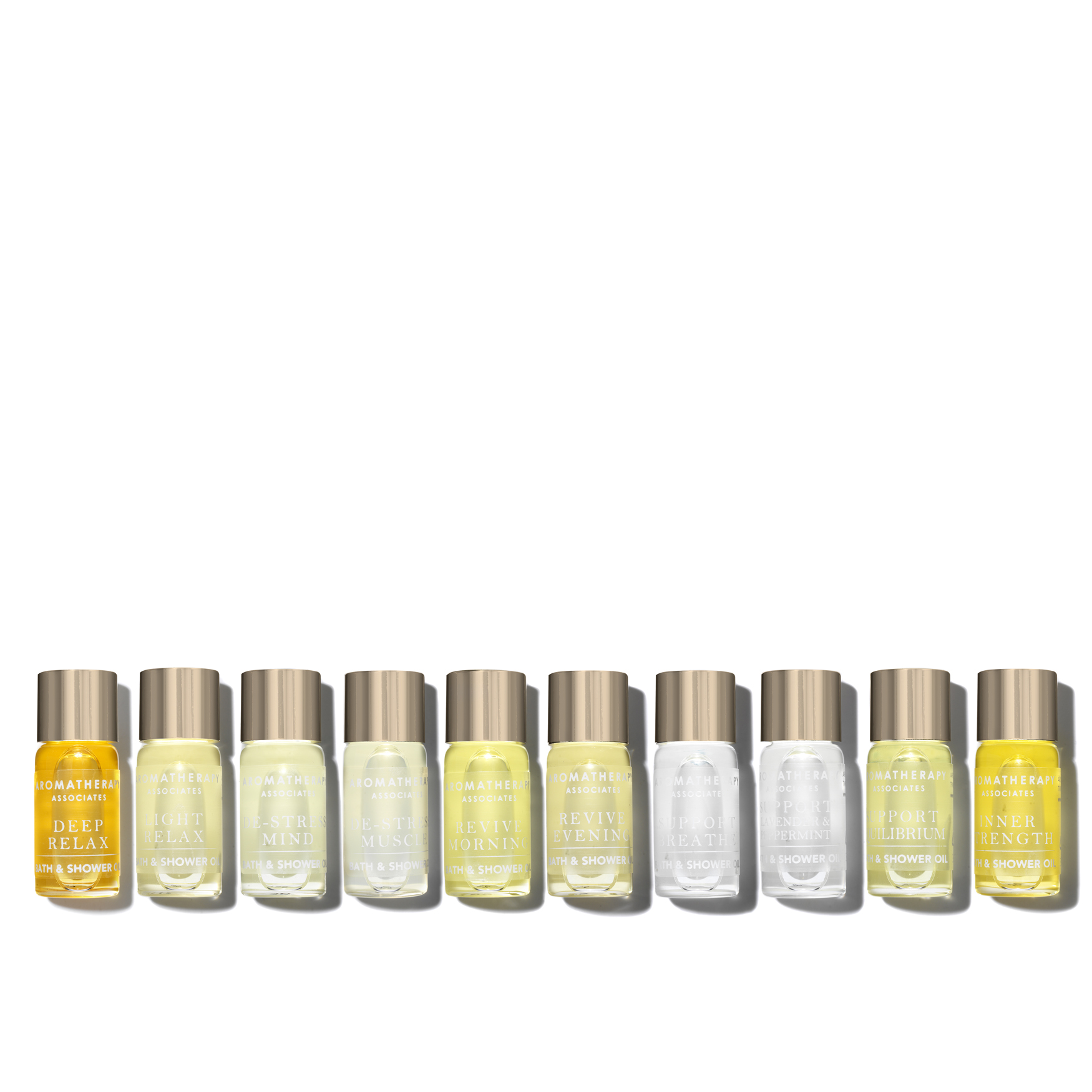 10 x 3ml Discovery Bath & Shower Oil Collection, , large