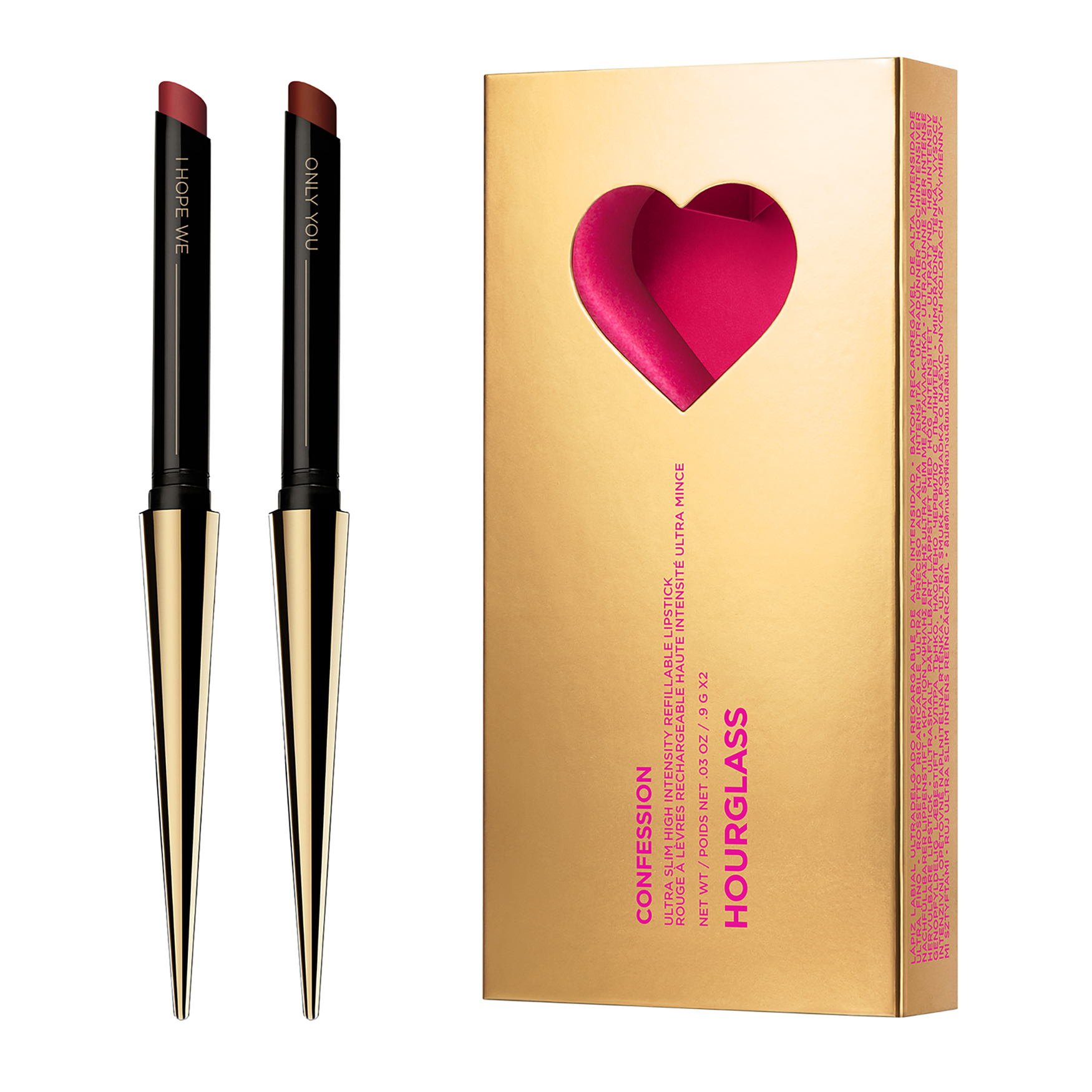 Confession Ultra Slim High Intensity Refillable Lipstick Duo Valentines Day 2020, , large