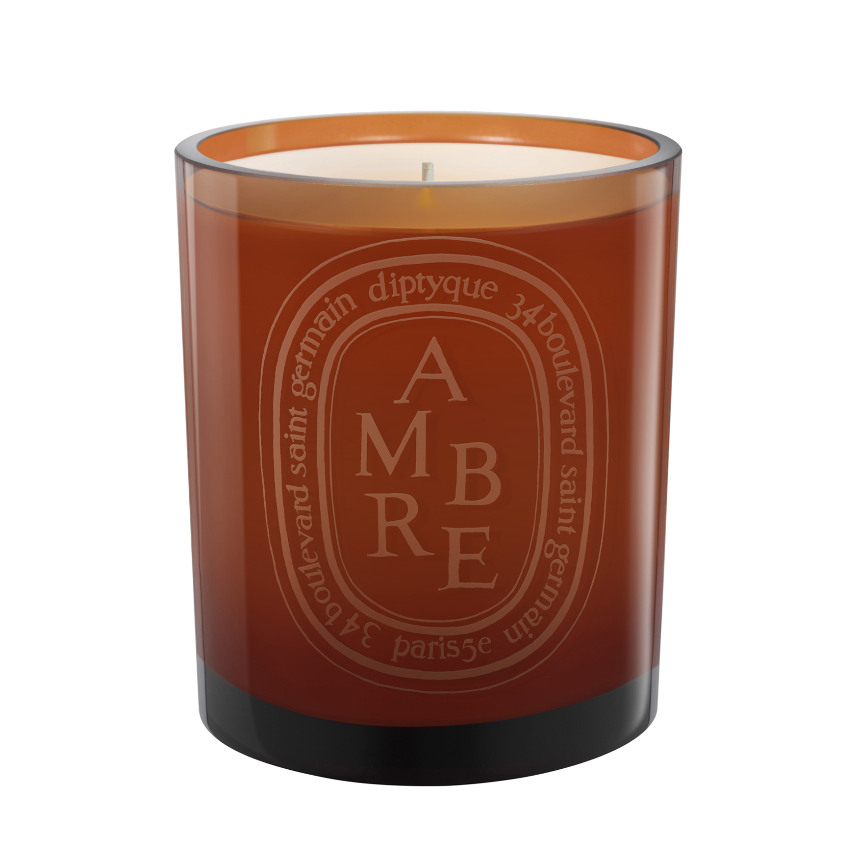 Ambre Colored Candle, , large