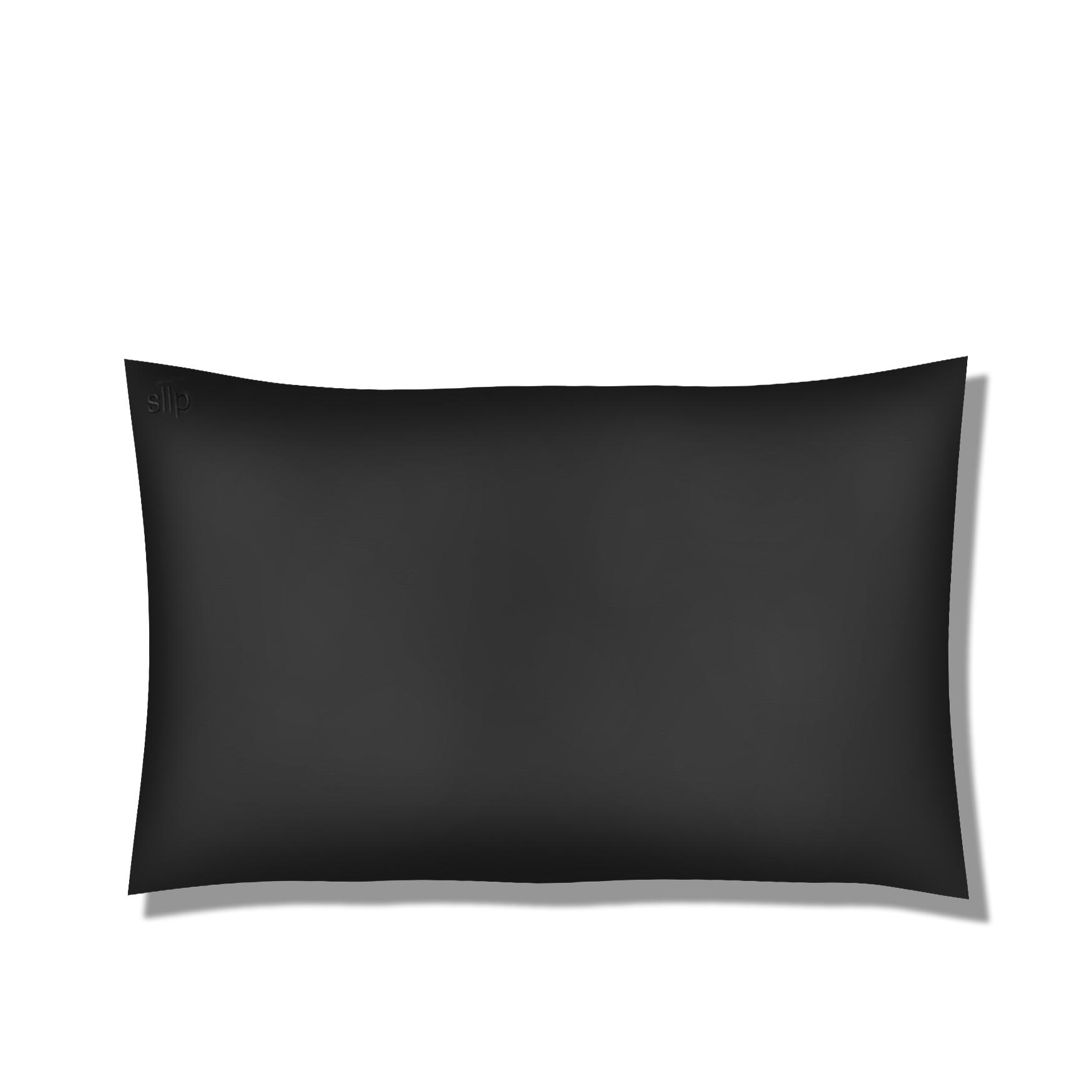 Silk Pillowcase - Queen Standard, BLACK, large
